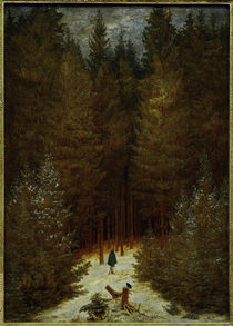 Friedrich / Hunter in the forest / 1814 by AKG  Images