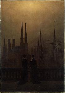C.D.Friedrich / Nächtlicher Hafen by AKG  Images