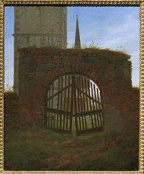 C.D.Friedrich / The cemetery gate /c. 1825 by AKG  Images