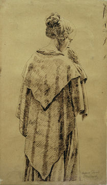 Friedrich / Woman in a shawl /  c. 1818 by AKG  Images