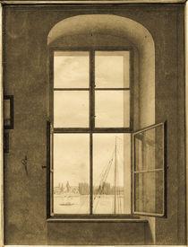 C.D.Friedrich, Blick aus dem Atelier.. von AKG  Images