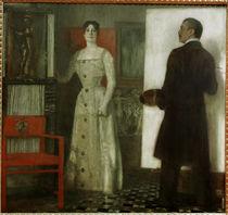 Franz v. Stuck / Self-Portrait w. wife/1902 by AKG  Images