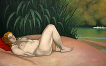 F.Vallotton / Nude by River Bank / 1921 by AKG  Images