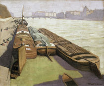 Paris / Barges on the Seine Bank / Vallotton by AKG  Images