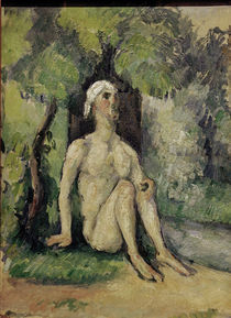 Cézanne / Bather sitting at water's edge by AKG  Images