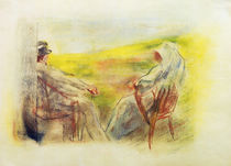 Liebermann / Man and woman in dunes by AKG  Images