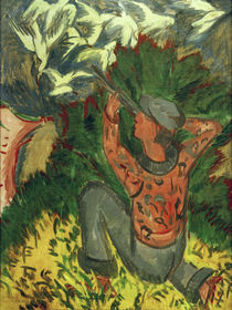 Ernst Ludwig Kirchner, Lion hunter in the grove by AKG  Images