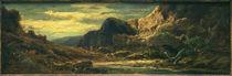 C.Spitzweg, Felsenlandschaft mit Drachen von AKG  Images