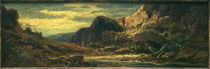 C.Spitzweg, Felsenlandschaft mit Drachen by AKG  Images
