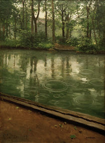Caillebotte / The Yerres in the rain by AKG  Images