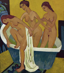 E.L.Kirchner / Bathing Women / 1915–25 by AKG  Images