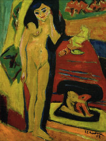 E.L.Kirchner / Nude behind curtain. by AKG  Images