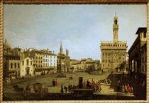Florenz, Piazza della Signoria / Bellotto von AKG  Images