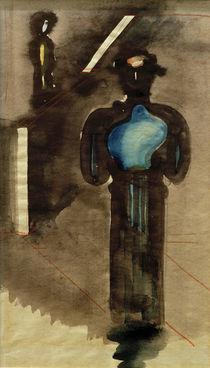 Oskar Schlemmer, Zwei blauschwarze Figuren von AKG  Images