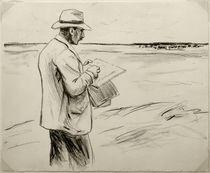 M.Liebermann, Selbstbildnis, im Freien zeichnend von AKG  Images