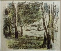 M.Liebermann, Landschaft am Wannsee mit Segelbooten von AKG  Images
