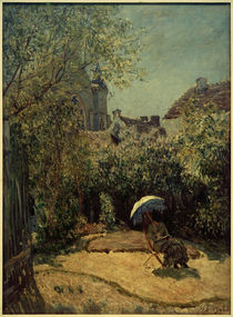 A.Sisley, Sommersonne (Frau mit Sonnenschirm) by AKG  Images