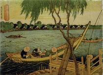 Hokusai, Fischen im Fluss Miyato / Farbholzschnitt 1832–34 von AKG  Images