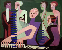 E.L.Kirchner / Singing Pianist by AKG  Images