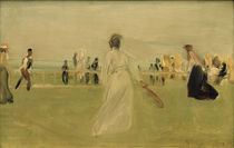M.Liebermann, Tennis players by the sea by AKG  Images