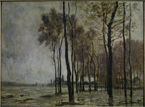 Monet / Flood in Argenteuil / Painting by AKG  Images