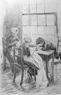 Liebermann / Dutch Interior / Drawing by AKG  Images