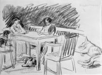 Liebermann / Wife and Daughter at Table by AKG  Images