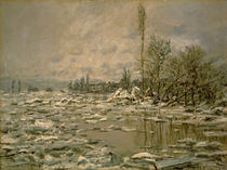 Claude Monet, Eisbruch, trübes Wetter von AKG  Images