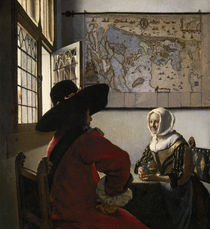 J. Vermeer, 'Officer and Laughing Girl' / Oil painting, c. 1658/60 by AKG  Images