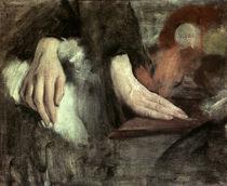 E.Degas, Handstudie, um 1868 von AKG  Images