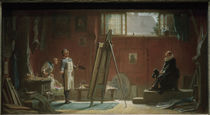 The Portrait Painter / C. Spitzweg / Painting, 1852/55 by AKG  Images