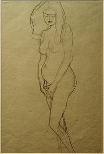 G.Klimt, Stehende nackte Schwangere by AKG  Images