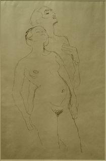 G.Klimt, Stehendes Liebespaar (Studie) von AKG  Images