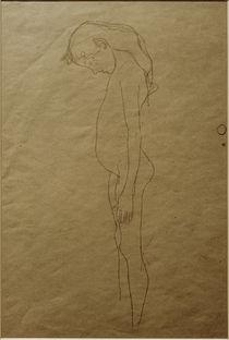 G.Klimt, Mädchenakt mit gesenktem Kopf by AKG  Images