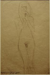 G.Klimt, Stehender weiblicher Akt von AKG  Images