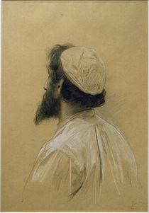 G.Klimt, Bärtiger jüngerer Mann m. Kappe by AKG  Images