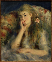 Young Woman Seated / A. Renoir / Painting, 1876/77 by AKG  Images
