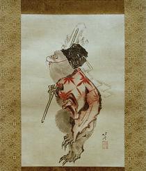 Shintoismus: Dressierter Affe / Hokusai um 1807 und 1813 by AKG  Images