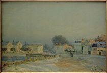 A.Sisley, Die Pferdeschwemme von Marly im Raureif von AKG  Images