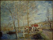 A.Sisley, Überschwemmung in Moret by AKG  Images