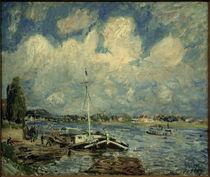 A.Sisley, Boote auf der Seine von AKG  Images