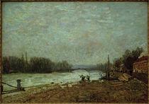 A.Sisley, Nach dem Eisgang, die Seine an der Brücke von Suresnes von AKG  Images