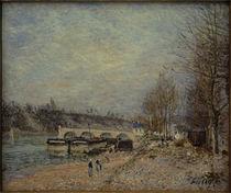 A.Sisley, Saint-Mammès bei trübem Wetter von AKG  Images