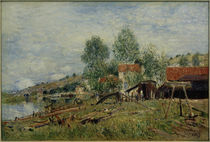 A.Sisley, Bootswerft in Saint-Mammès by AKG  Images