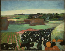Gauguin, Haystack in Brittany by AKG  Images