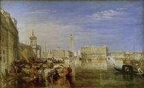 Canaletto beim Malen / Gem. v. W.Turner von AKG  Images