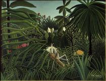 H.Rousseau, Kampf eines Jaguars.... von AKG  Images