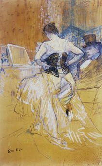 Toulouse-Lautrec / Femme mettant s. corset von AKG  Images