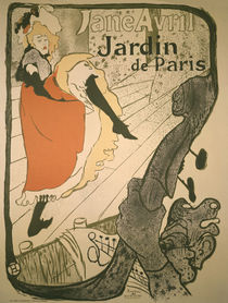 Toulouse-Lautrec / Jane Avril Poster/1893 by AKG  Images