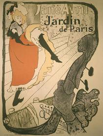 Toulouse-Lautrec / Jane Avril / Plakat/1893 von AKG  Images